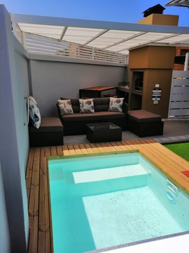 Suidersee Apartment 21 - Under-roof braai and splash pool